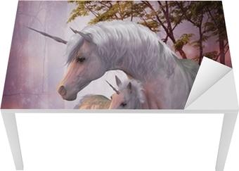 Unicorn Mare and Foal Table & Desk Veneer
