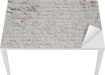 White grunge brick wall background Table & Desk Veneer