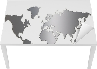 World map silhouette isolated on white background wall mural world map silhouette isolated on white background wall mural pixers we live to change gumiabroncs Gallery