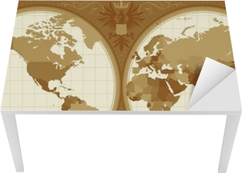 World map with retro styled hemispheres wall mural pixers we world map with retro styled hemispheres wall mural pixers we live to change gumiabroncs Image collections