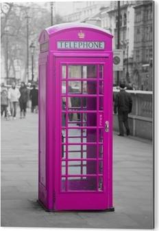 Tableau Alu-Dibond Cabine téléphonique à Londres