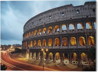 Tableau Alu-Dibond Colisée de nuit. Rome - Italie