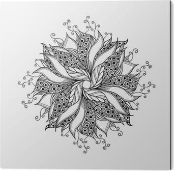 Fantastique Fleur Noir Et Blanc Motif De Tatouage