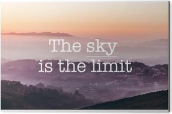 Tableau Alu-Dibond Le ciel est la limite, fond de montagnes brumeuses