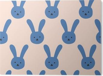 Tableau Alu-Dibond Motif de lapin sans soudure