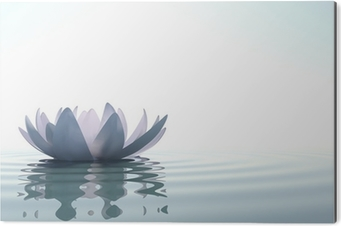 Tableau Alu-Dibond Zen fleur loto dans l'eau