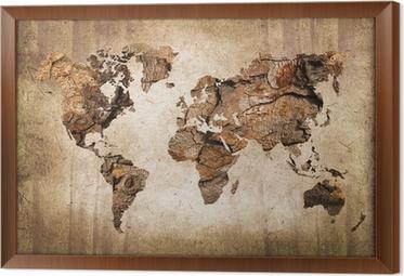 tableaux sur toile carte g ographique du monde pixers. Black Bedroom Furniture Sets. Home Design Ideas