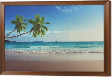 Tableau en Cadre Coucher de soleil sur la plage des Seychelles
