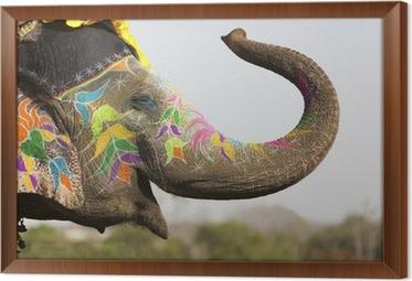 tableau en cadre lphant dcor au festival lphant jaipur - Cadre Elephant
