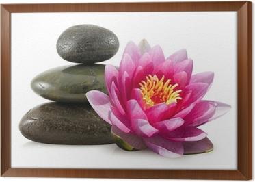 interesting tableau en cadre fleur de lotus et galets zen with cadre galet zen. Black Bedroom Furniture Sets. Home Design Ideas