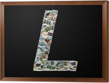 Papier Peint Forme De La Lettre L Fait Comme Collage De Photos De