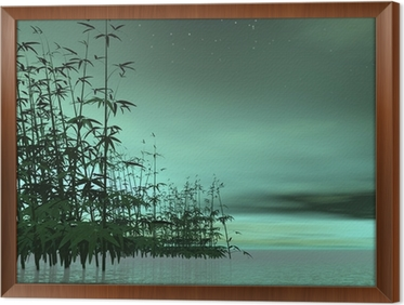 tableau en cadre nature zen rendu d with cadre nature zen. Black Bedroom Furniture Sets. Home Design Ideas