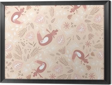Tableau en cadre Toucans dans tropiques - Kubem studio