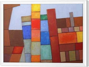 Tableau en cadre Un collage abstrait peint