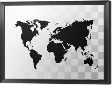 tableaux sur toile cartes du monde en noir et blanc pixers nous vivons pour changer. Black Bedroom Furniture Sets. Home Design Ideas