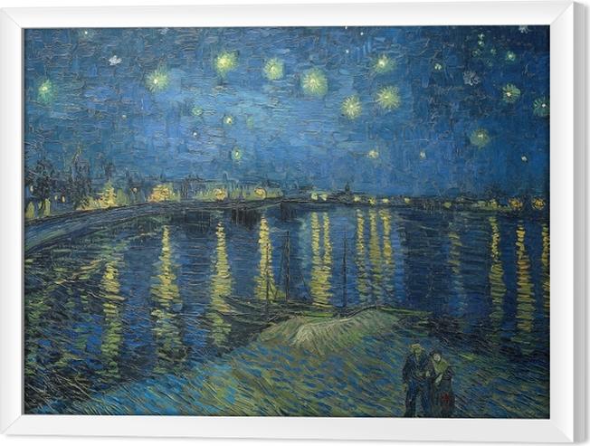 Tableau en cadre Vincent van Gogh - Nuit étoilée sur le Rhône - Reproductions