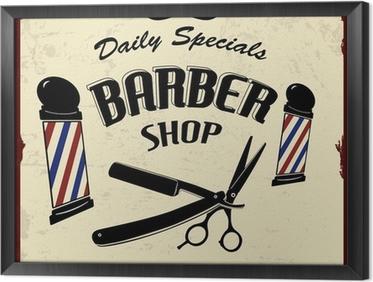 Tableau en Cadre Vintage Styled Barber Shop
