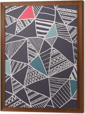 Tableau encadré Abstract seamless pattern doodle