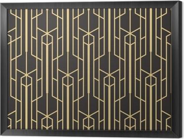 Tableau encadré Abstrait art déco sans couture monochrome