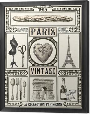 Tableau encadré Affiche vintage de Paris