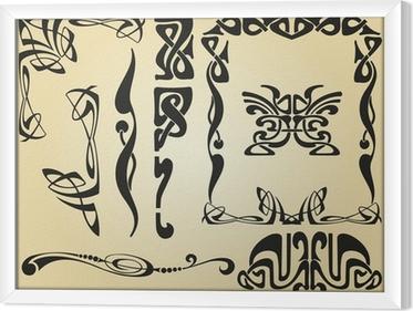 Tableau encadré Cadre et des éléments de décoration Art Nouveau