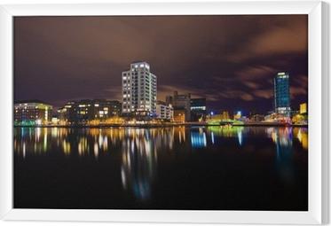 Tableau encadré Dublin par nuit