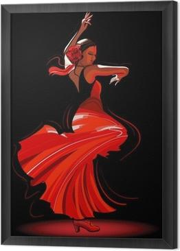 Tableau encadré Flamenco danseuse