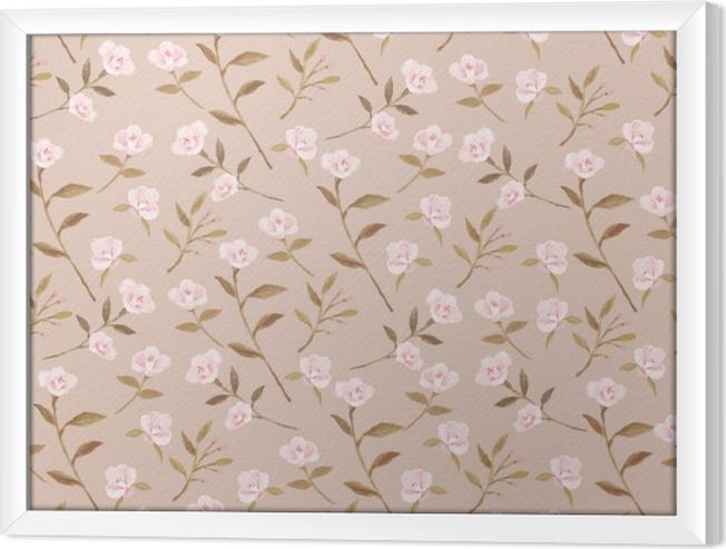 Tableau encadré jardin Camellia sur la crème de fond - Nina Ho - Artistes contemporains