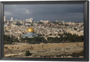 Tableau encadré La ville sainte de Jérusalem d'Israël