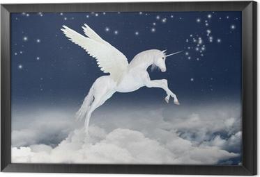 Tableau encadré Licorne dans le ciel