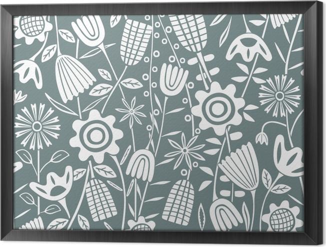 Tableau encadré motif de fleur - Kubem studio - Artistes contemporains
