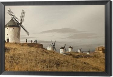 Tableau encadré Moulins à vent espagnol - Consuegra