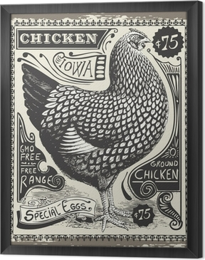 Tableau encadré Vintage Poultry and Eggs Advertising Page