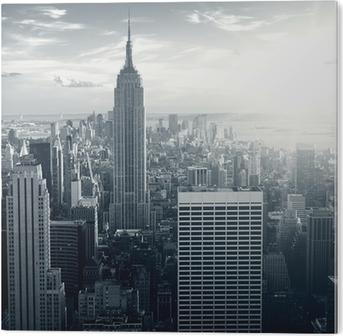 Tableau Plexiglas Amazing view to New York Manhattan at sunset