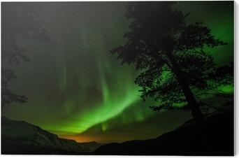 Tableau Plexiglas Aurora Borealis (aurores boréales) en Suède