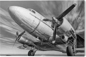 Tableau Plexiglas Avion historique sur une piste