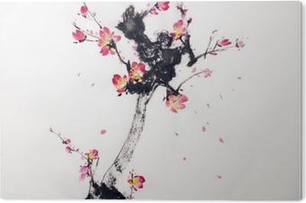 Tableau Plexiglas Branche de cerisiers en fleur