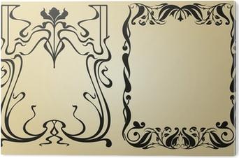Tableau Plexiglas Cadre et des éléments de décoration Art Nouveau