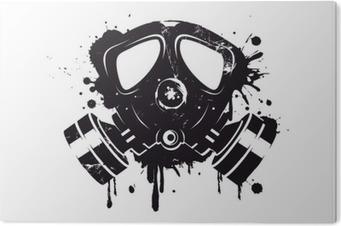 Tableau Plexiglas Gasmaske Graffiti
