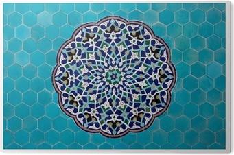 Tableau Plexiglas Mosaïque islamique de tuiles bleues