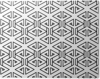 Tableau Plexiglas Motif oreiller de mode abstrait géométrique hippie noir et blanc