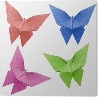 Fotobehang Origami Vlinder Recycle Papercraft Pixers We Leven