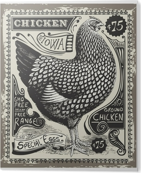 Tableau Plexiglas Vintage Poultry and Eggs Advertising Page