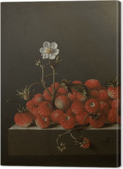 Tableaux premium Adriaen Coorte - Still Life with Wild Strawberries - Reproductions