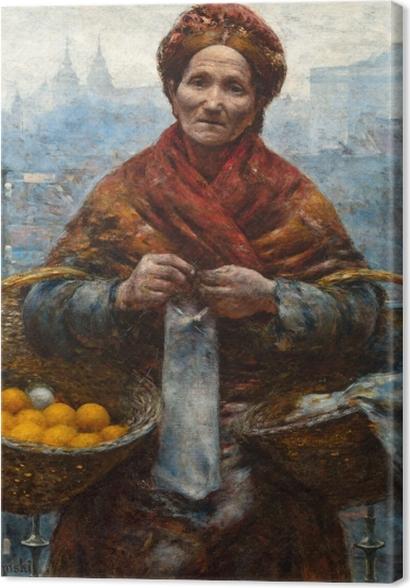 Tableaux premium Aleksander Gierymski - Juive avec des oranges - Reproductions