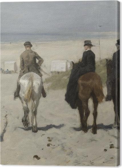 Tableaux premium Anton Mauve - Balade matinale sur la plage - Reproductions