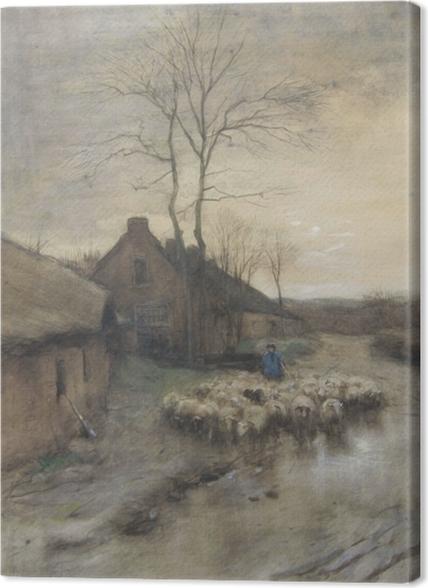 Tableaux premium Anton Mauve - Berger avec Moutons à 't Gooi - Reproductions