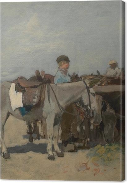 Tableaux premium Anton Mauve - Stand pour les ânes sur la plage de Scheveningen - Reproductions