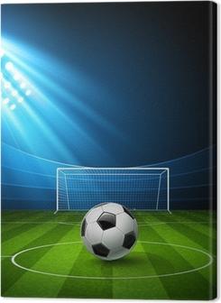 Tableaux premium Arène de football avec un ballon de football. Vecteur