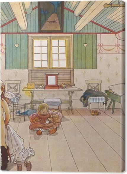 Tableaux premium Carl Larsson - Chambre de maman et de petite fille - Reproductions